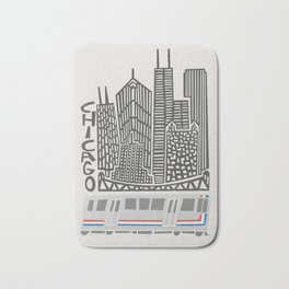 Chicago Cityscape Bath Mat