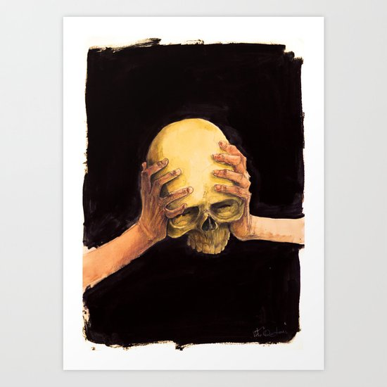 Head on Hands Art Print
