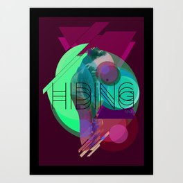 Hiding Tonight Art Print