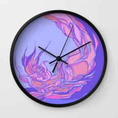 Lilac  & pink abstract theme Wall Clock