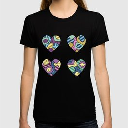 patchwork hearts T-shirt