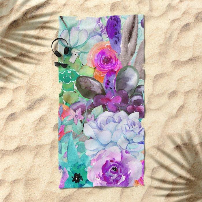 spring pastels Beach Towel