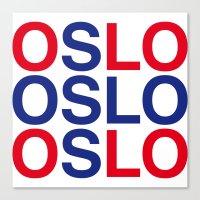 oslo Canvas Prints featuring OSLO by eyesblau