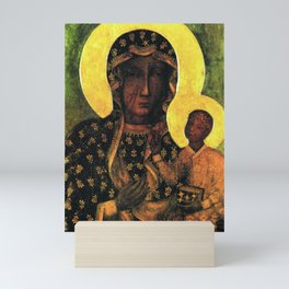 Virgin Mary Our Lady of Czestochowa Madonna and Child Jesus Religion Christmas Gift Mini Art Print