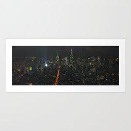 New York Skyline Midnight Art Print