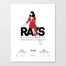 Rays - Poster Canvas Print
