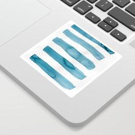 Aqua Stripes Abstract Modern Art Sticker