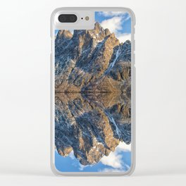 Spectacular snowy Hurtigruten mountains, Norway in magnificent early winter Clear iPhone Case