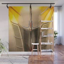 Classic Vintage Car Grill in Executive Yellow Wall Mural