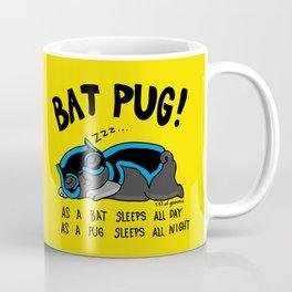 Black Bat Pug! Coffee Mug