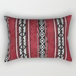 Red Arabian Pattern Rectangular Pillow