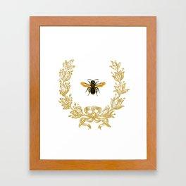 French Bee acorn wreath Framed Art Print