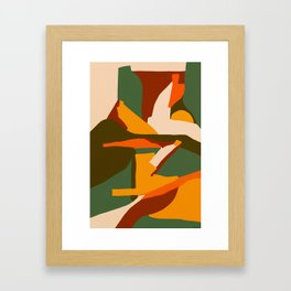 A New Way Of Seeing Abstract Landscape Framed Art Print