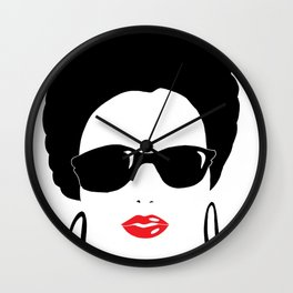 Afro chic in sunshades Wall Clock