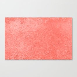 Living Coral - Color of the year 2019, Millennial Pink Grunge Ombre Pastel Texture Canvas Print