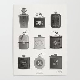 Flask Collection – Black Palette Poster