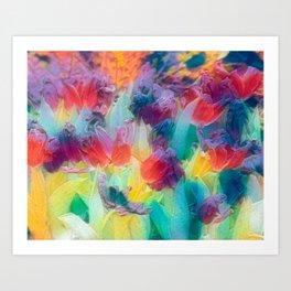 Pastels Tulips Art Print