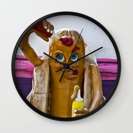 Hot Dog Dressing Up Wall Clock