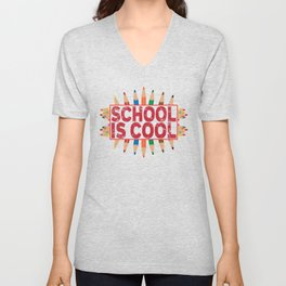 School is cool Unisex V-Neck