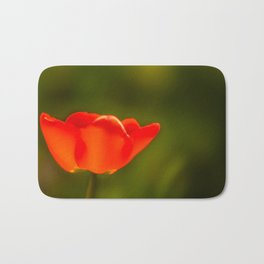 La tulipe orange Bath Mat