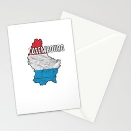 Patriotic Luxembourger Luxembourg Flag Nationalism Stationery Cards