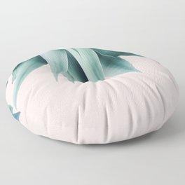 Agave fringe - blush Floor Pillow