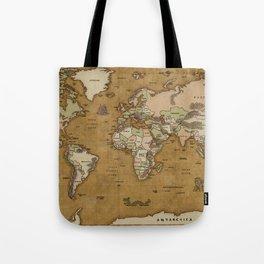 World Treasure Map Tote Bag