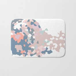 love the world to pieces pinks and grays Bath Mat