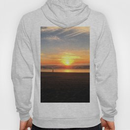 WALKING ON THE BEACH AT SUNSET Hoody