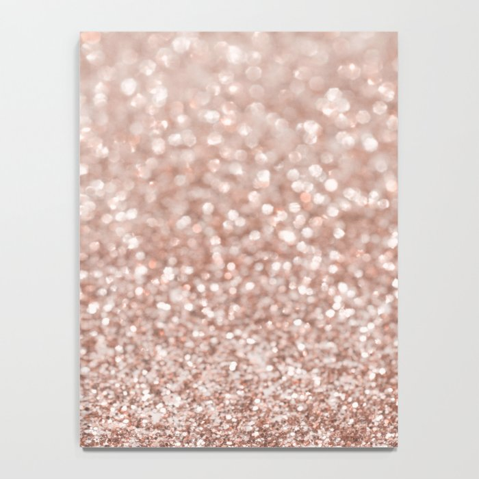 Sparkling Rose Gold Blush Glitter #2 #shiny #decor #art #society6 Notebook