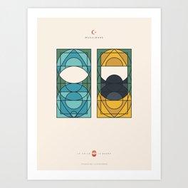 LE VOILE & LA BARBE - Musulmans - Femme & Homme Art Print