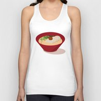 ramen Tank Tops featuring Ramen (Akamaru Chashu) by Hello Fever