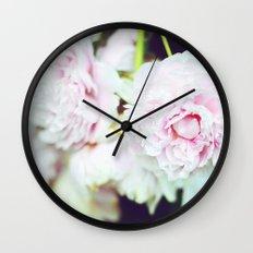 Peony Garden Splendor II Wall Clock