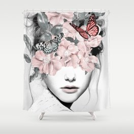 WOMAN WITH FLOWERS 10 Shower Curtain