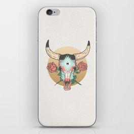 cráneo de vaca iPhone Skin