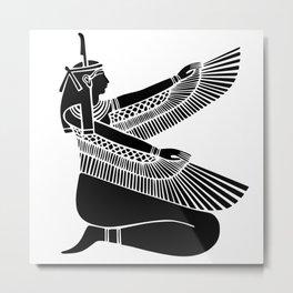 Black Goddess Maat Metal Print