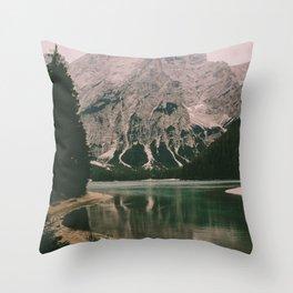 Braies Lake #1 Throw Pillow