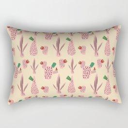 Mid Mod Cactus Pink Rectangular Pillow