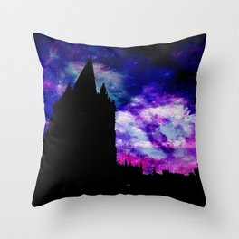Space Tower Throw Pillow