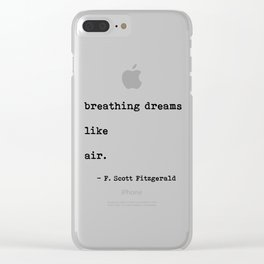 breathing dreams like air Clear iPhone Case