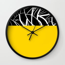 Yellow Zebra Wall Clock