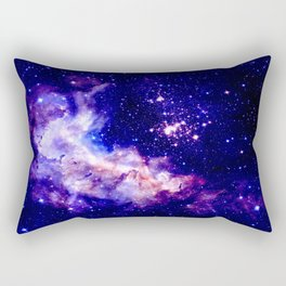 indigo galaxy : Celestial Fireworks Rectangular Pillow