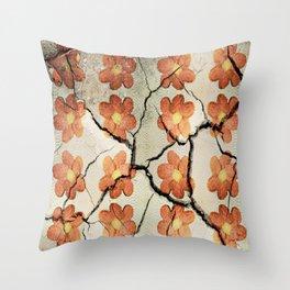 Friendship as a Beautiful Flower Throw Pillow
