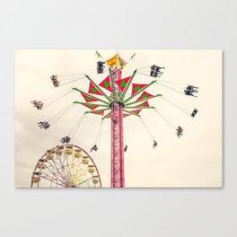 Tall Swing Ride at Puyallup Fair Canvas Print