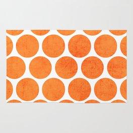 orange polka dots Rug