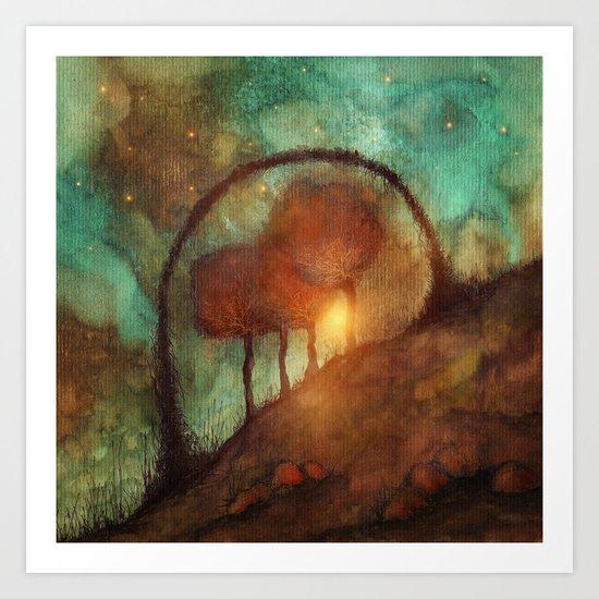 Track 28: Sunset and Dreams II Art Print
