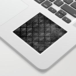 Elegant Grunge Black Damask Sticker