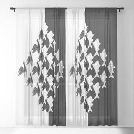 Escher - Sky and Water Sheer Curtain