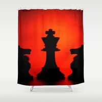 king Shower Curtains featuring King by Doug McRae