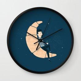Ze Croissant Moon Wall Clock